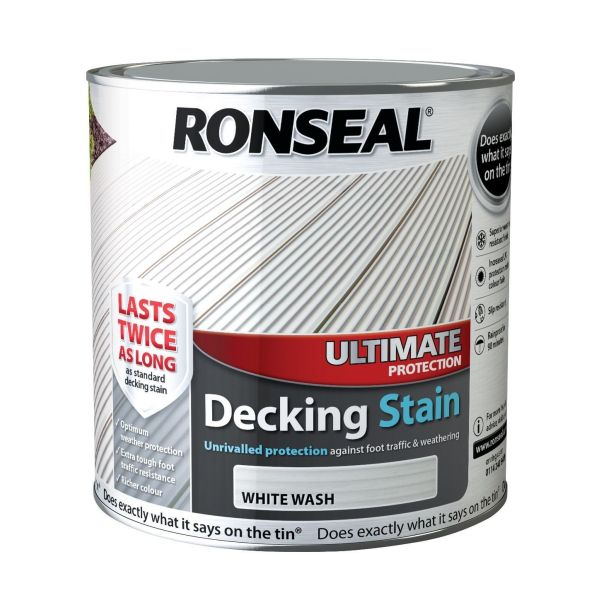 Ultimate Decking Stain White Wash 2.5ltr