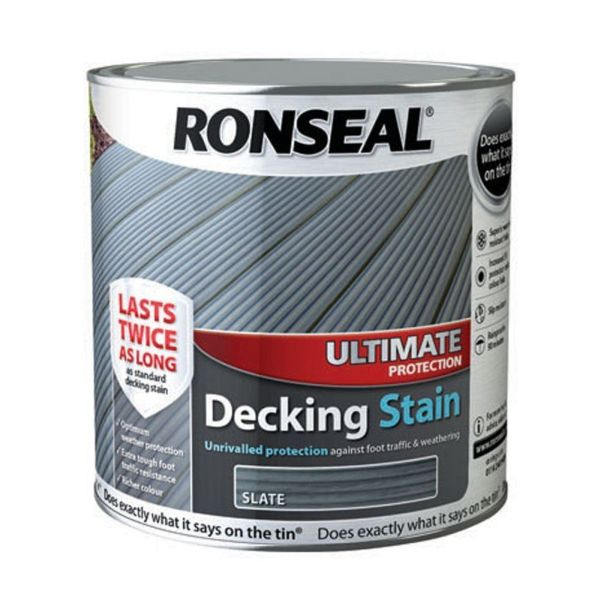 Ultimate Decking Stain Slate 2.5ltr