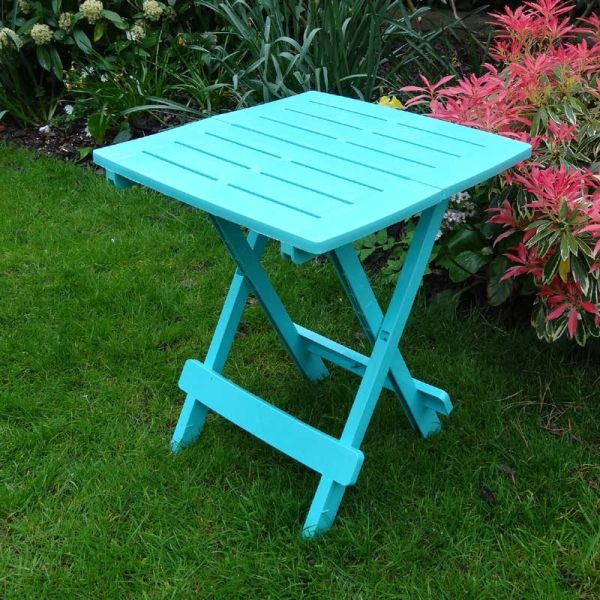 Arondeck folding side table blue