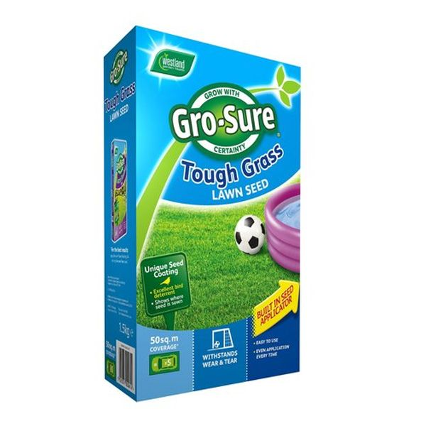 Gro-Sure Tough Grass Lawn Seed 50sqm