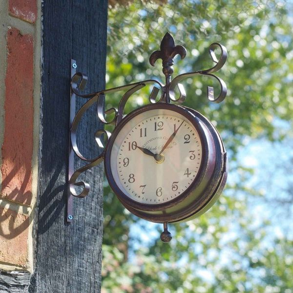 5in York station wall clock & thermometer