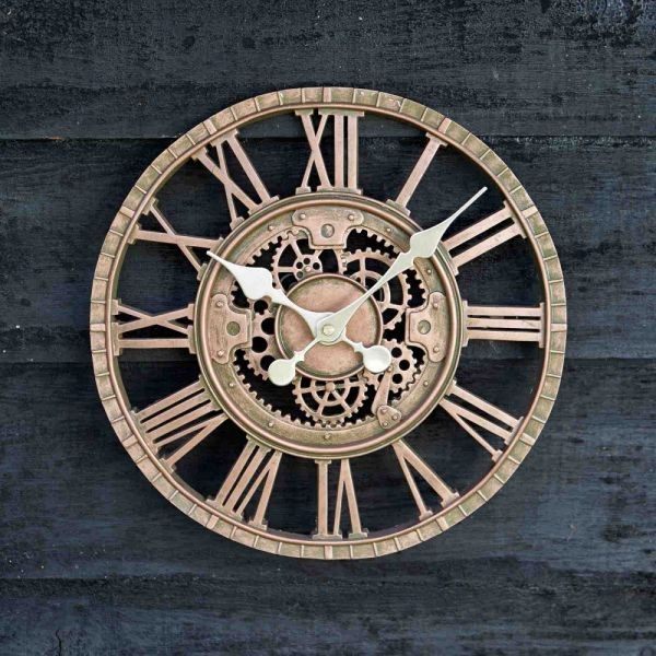 12in Bronze Newby mechanical wall clock