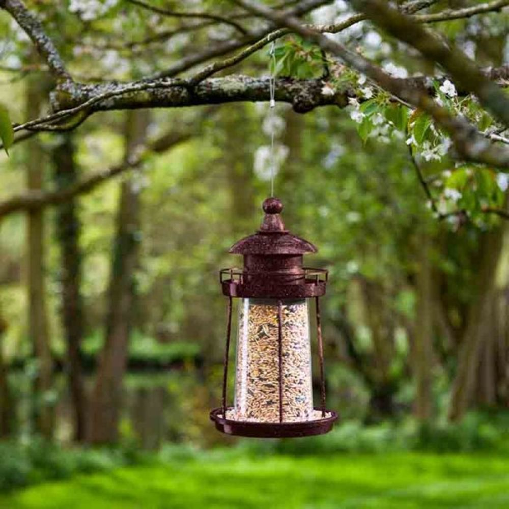 LIGHTHOUSE SEED FEEDER-COPPER