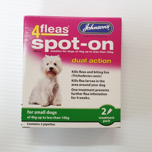 4 Fleas Spot on Small Dogs