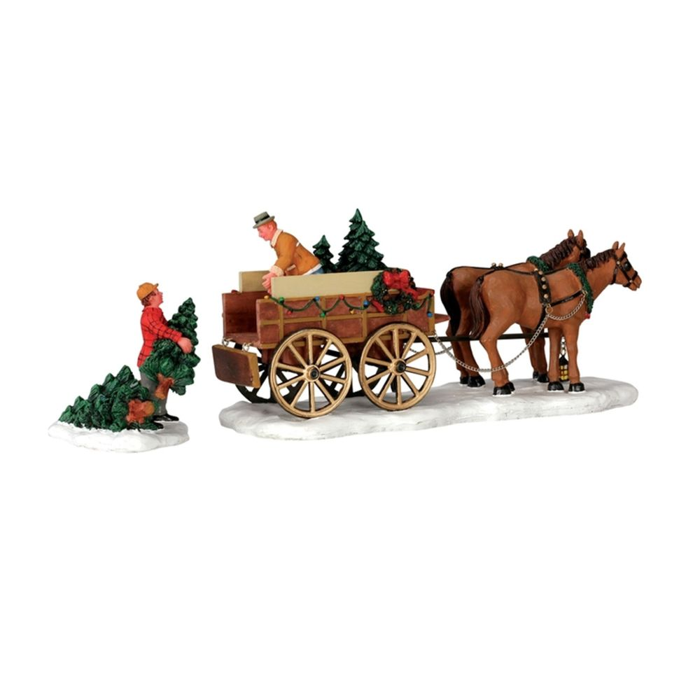 CHRISTMAS TREE WAGON SET OF 2