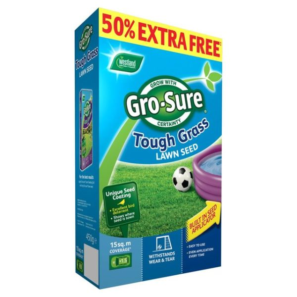 Gro-Sure Tough Grass Seed 10m2 + 50% Free