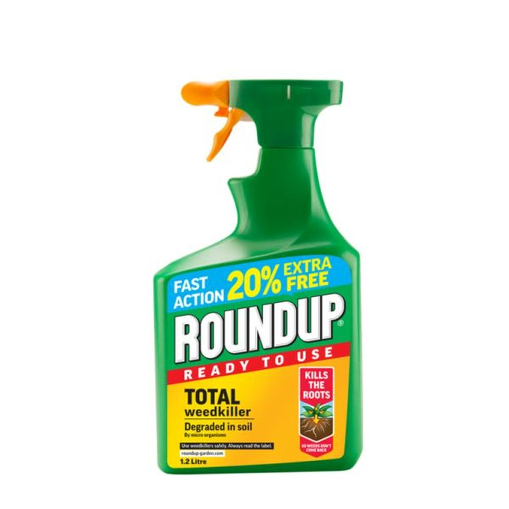 Roundup Total Ready To Use 1ltr + 20% Extra Free