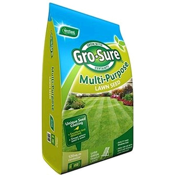 Gro-Sure Multi Purpose Lawn Seed Bag 120m2