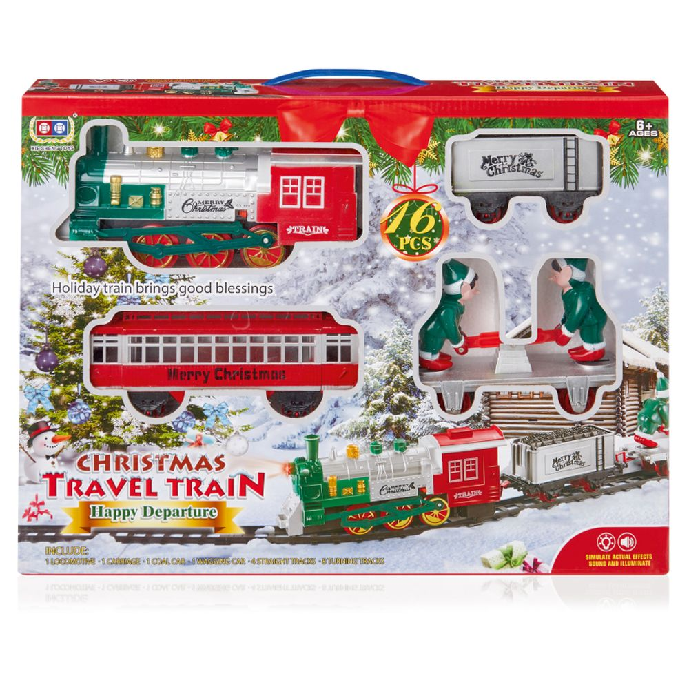 Train Set w/ Elves BO Lights&Sound