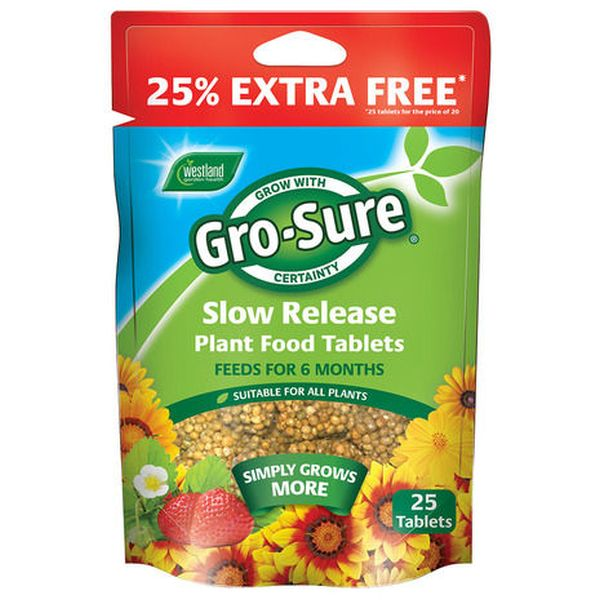 Gro-Sure All Purpose 6 Month Feed Tablets + 25 Extra Free