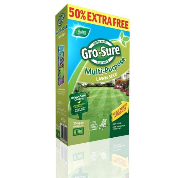 Gro-Sure Multi Purpose Lawn Seed 10m2 + 50% Extra Free