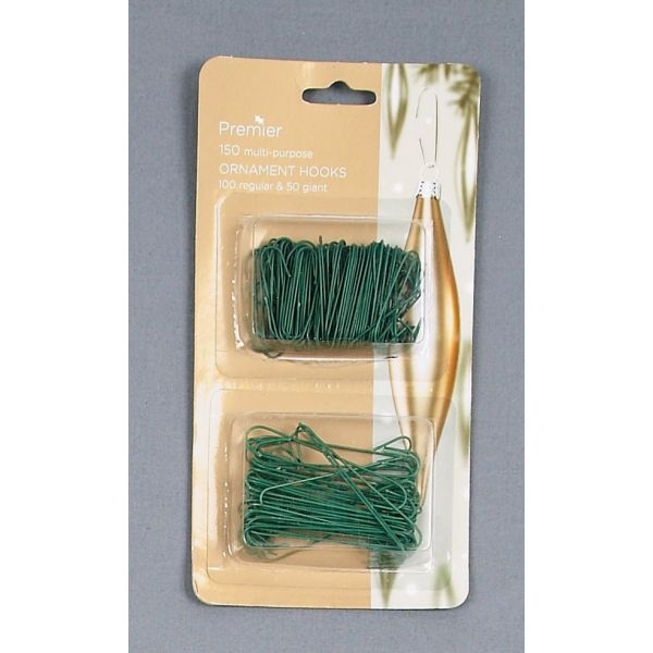 Twin Pack Ornament Hooks-Green