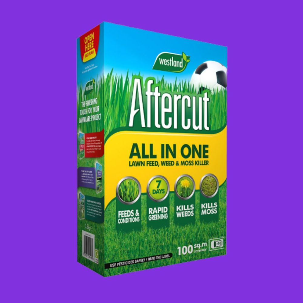 Aftercut All in One Lawn Feed,Weed and Moss Killer 100m2