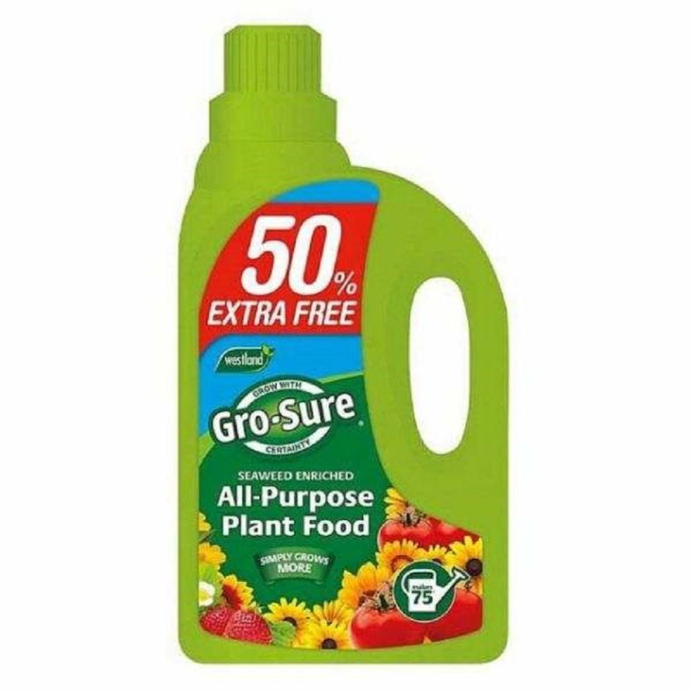 Gro-Sure All Purpose Liquid Plant Food 1ltr + 50 % Extra free